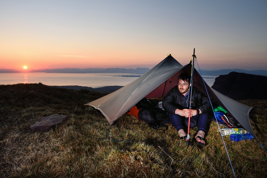 High camp on the Trotternish Ridge